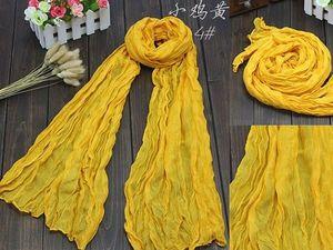 Желтый летний шарф.... Ярмарка Мастеров - ручная работа, handmade.