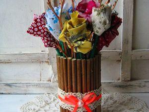 Украшаем дом текстильными розами в вазе. Ярмарка Мастеров - ручная работа, handmade.