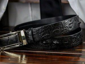 Ремень из крокодила - престижный  подарок на Новый Год (видеообзоры новинок). Ярмарка Мастеров - ручная работа, handmade.