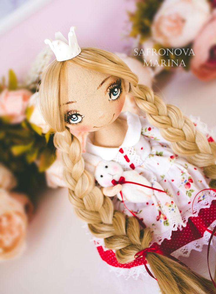 купить текстильная кукла, купить кукла блондинкм