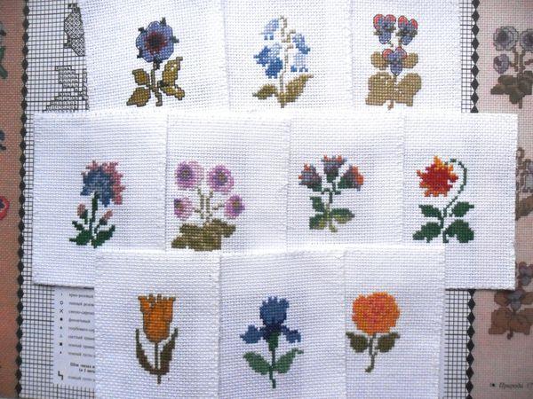 Аукцион исследование на миниатюрные вышитые цветы, мотивы для творчества | Ярмарка Мастеров - ручная работа, handmade