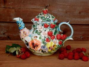 """Чайник """"Малиновый звон"""" в наличии!. Ярмарка Мастеров - ручная работа, handmade."""