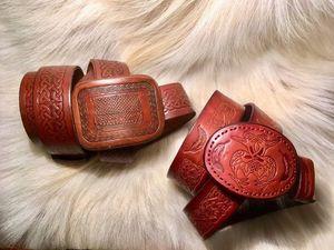 Два кельтских ремня по 1000р. за каждый.. Ярмарка Мастеров - ручная работа, handmade.