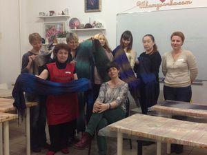 Отчет о мастер-классе. Как мы валяли мужские шарфы   Ярмарка Мастеров - ручная работа, handmade