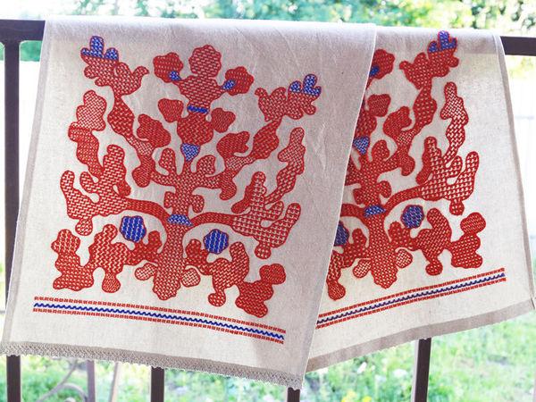 Шьем рушник со старославянской вышивкой Орловский спис | Ярмарка Мастеров - ручная работа, handmade