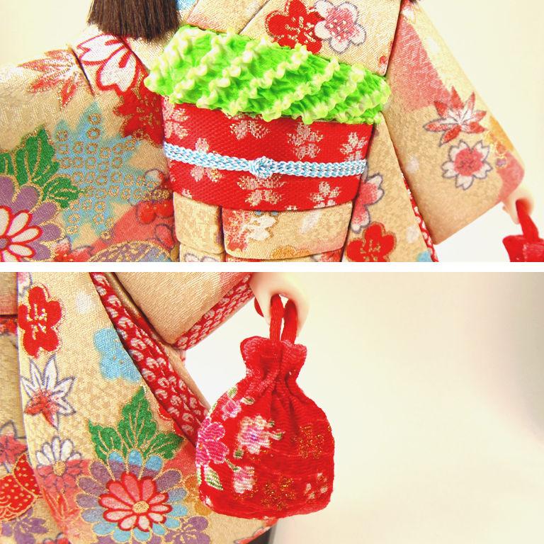 кукла японка в кимоно