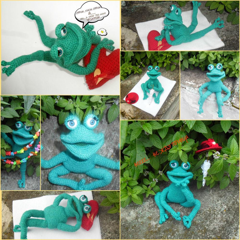 новая работа, вязание крючком, лягушка, авторская игрушка, игрушки ручной работы, ручная работа