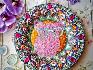 Вебинар: учимся точечной росписи тарелки. Ярмарка Мастеров - ручная работа, handmade.
