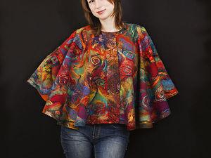 Валяем пончо-трансформер и рассматриваем возможные варианты ношения. Ярмарка Мастеров - ручная работа, handmade.