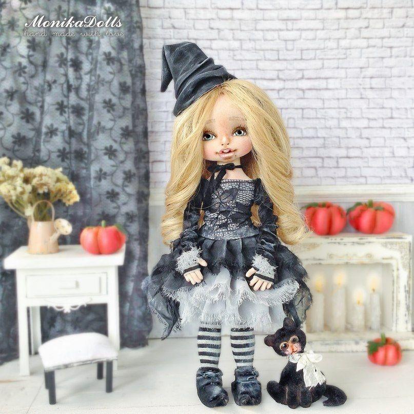 коллекционная кукла, куклы, новый год 2018