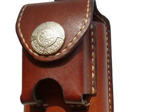 Кожаный Футляр для сигарет и зажигалки. Скидка 35% до 21 декабря.. Ярмарка Мастеров - ручная работа, handmade.