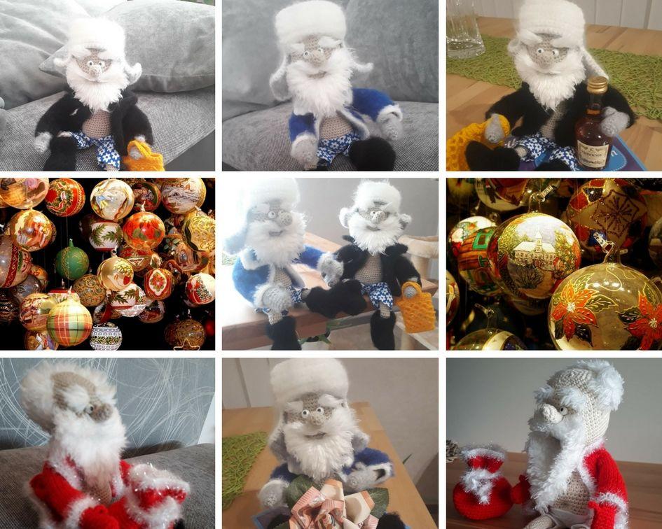 онлайн, мастер-класс, описание вязания, дед мороз, новый год