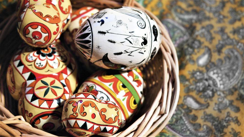яйца, пасха, роспись яиц, праздник, христос воскрес