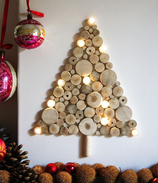 дерево в декоре дома