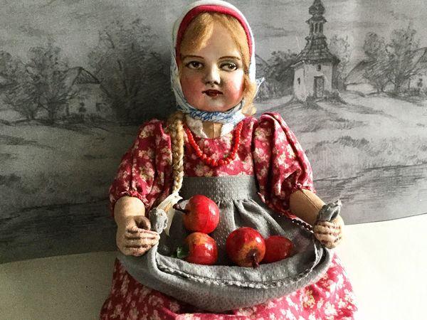 Яблочный Спас. Новая кукла   Ярмарка Мастеров - ручная работа, handmade