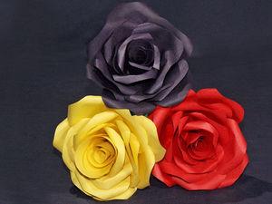 Роза из цветной бумаги: видео мастер-класс. Ярмарка Мастеров - ручная работа, handmade.