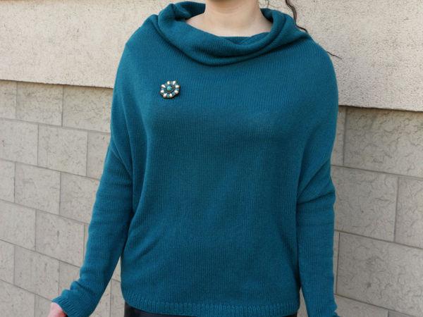 Кашемировый свитер-кокон с воротником-хомут в магазине! | Ярмарка Мастеров - ручная работа, handmade