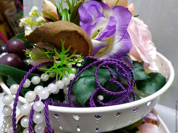 Фрукты и ягоды в композициях из цветов | Ярмарка Мастеров - ручная работа, handmade