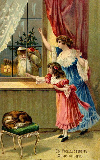 Старинные открытки с рождеством фото