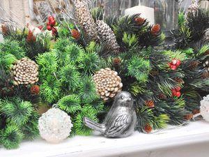 Создаем новогоднюю композицию на камин из искусственных растений. Ярмарка Мастеров - ручная работа, handmade.