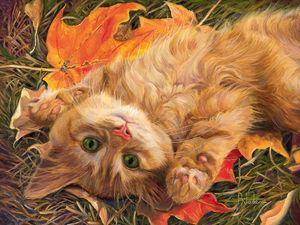 Канадская художница Lucie Bilodeau и ее кошки: подборка из 50 картин. Ярмарка Мастеров - ручная работа, handmade.