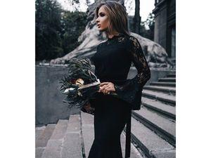 Черное платье. Ярмарка Мастеров - ручная работа, handmade.