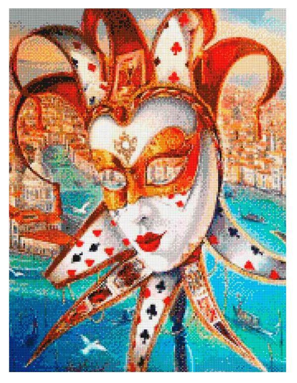 алмазная вышивка, карнавальная маска