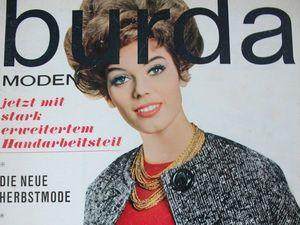 Burda moden 9/1962  Бурда Моден. Ярмарка Мастеров - ручная работа, handmade.