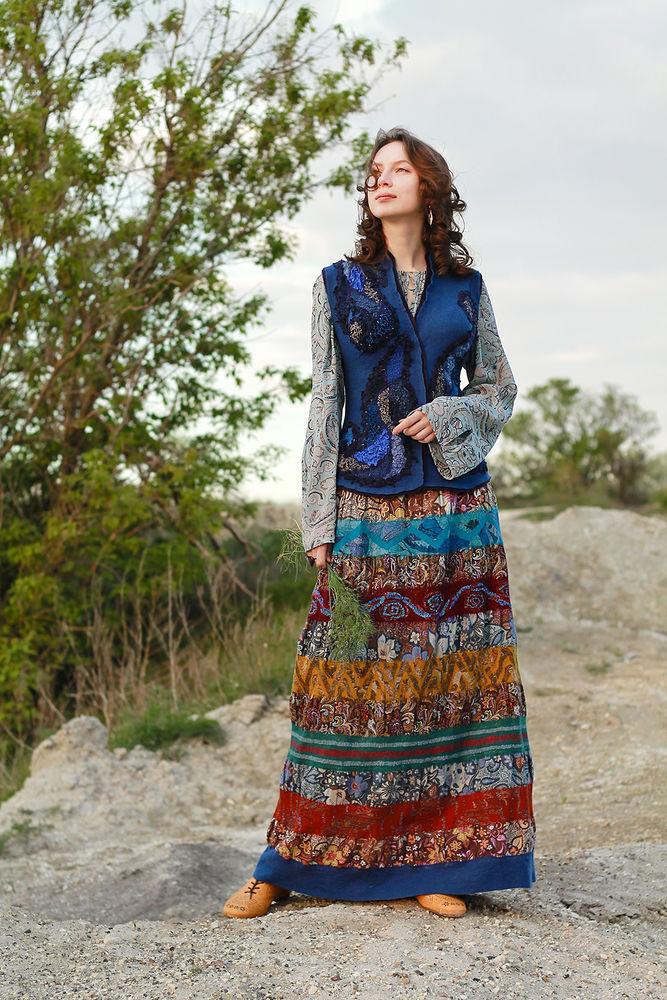 валяние юбки, tatiana sapelnikova, бохо-стиль