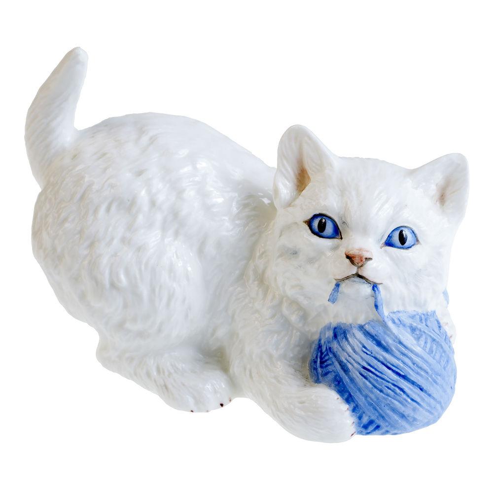 фарфоровая статуэтка, котенок ищет дом