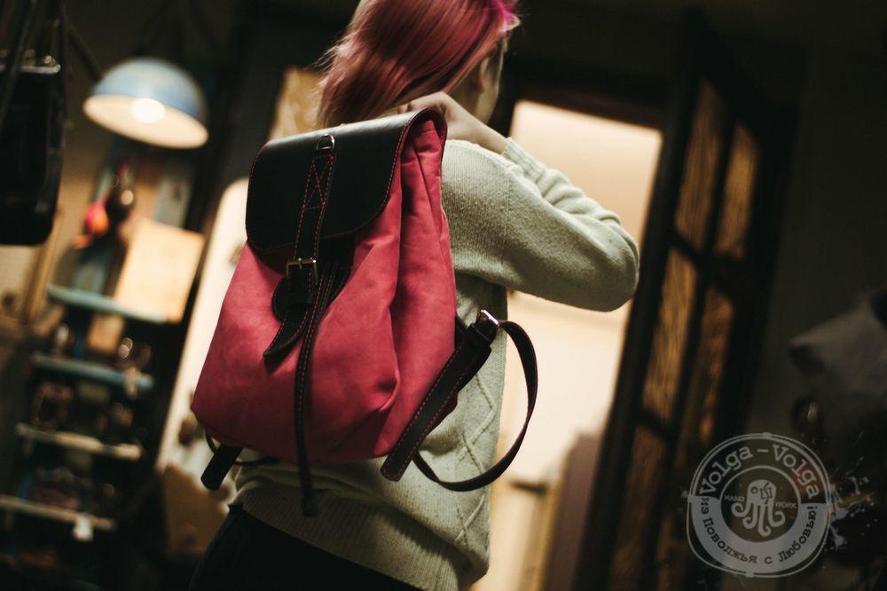рюкзак из кожи, стильный подарок