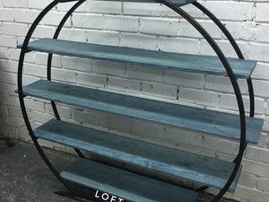 Круглая этажерка в стиле лофт. Ярмарка Мастеров - ручная работа, handmade.