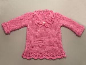 Вяжем спицами кофточку для маленькой принцессы. Ярмарка Мастеров - ручная работа, handmade.