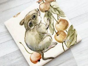 Зеркало Лесные яблочки. Ярмарка Мастеров - ручная работа, handmade.