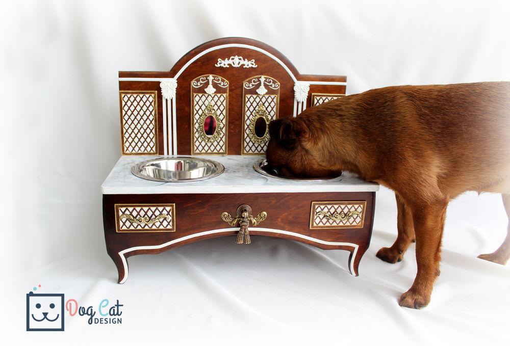 кормушка для собак, подарок в интерьер, подарок для кошки, дизайнерская подставка
