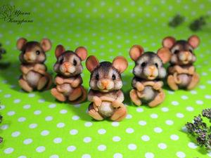 Мышатки — очаровашки. Ярмарка Мастеров - ручная работа, handmade.