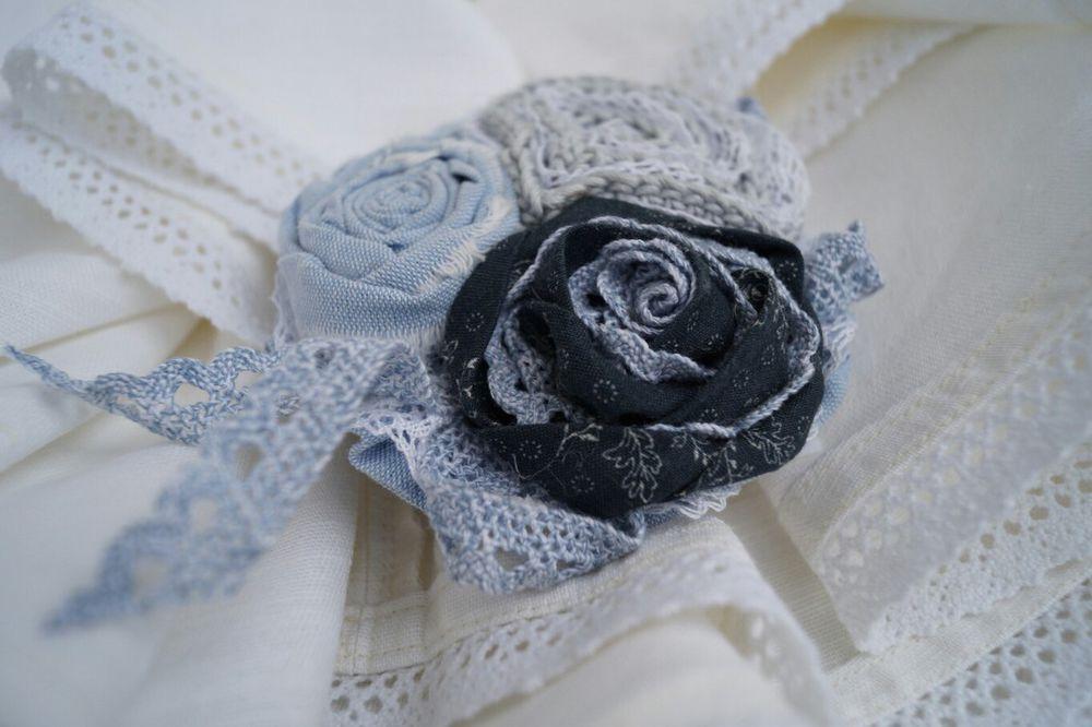 текстильные украшения, цветы ручной работы, крылья искусства