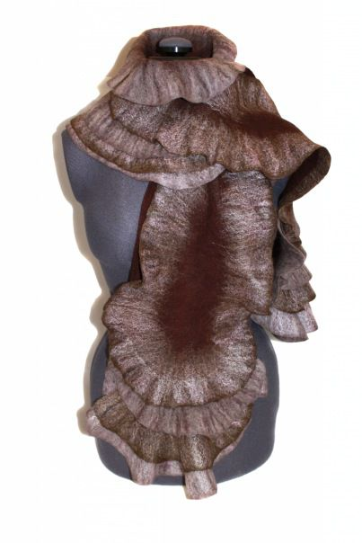 мастер-класс, арт-терапия, шарф с воланами