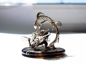 Играющие дельфины (кусочек вдохновения). Ярмарка Мастеров - ручная работа, handmade.