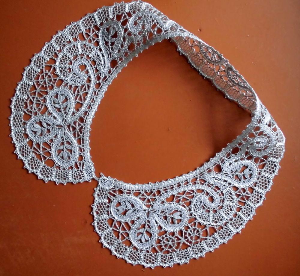 Как сшить кружевной воротник на платье 24