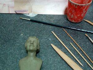 В процессе работы над портретом. Ярмарка Мастеров - ручная работа, handmade.