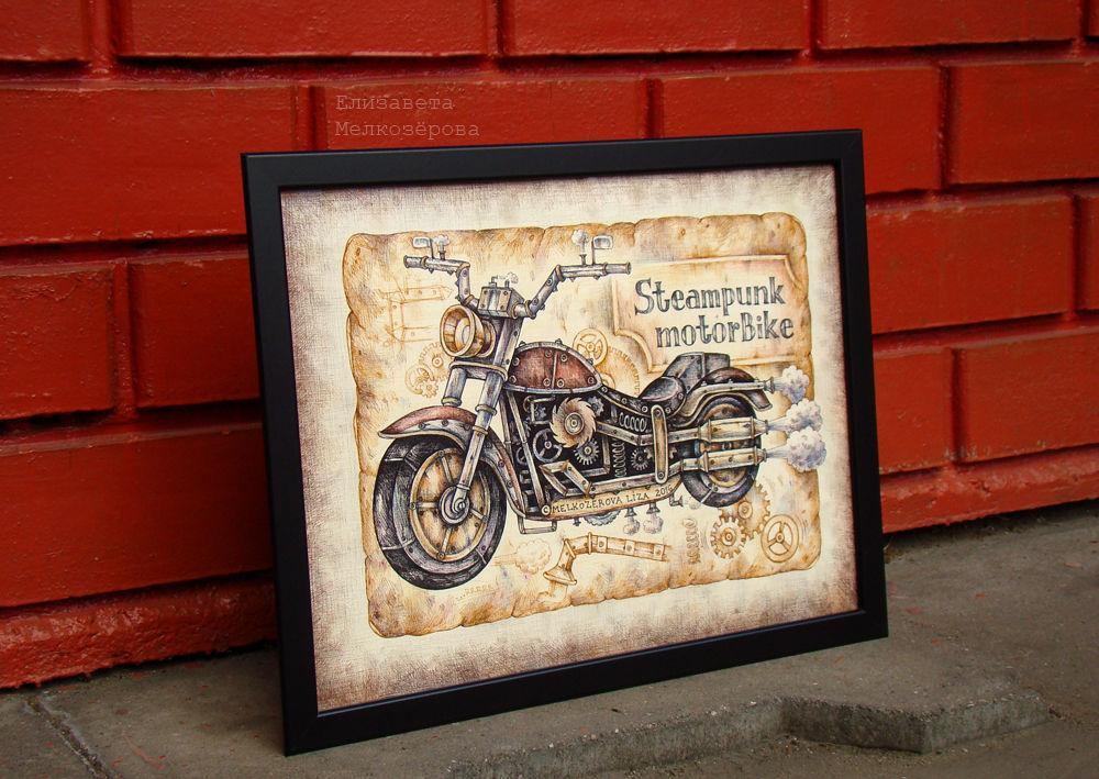 рок рок-н-ролл, бежевый коричневый, подарок мужчине мужу, бумага цветные карандаши, ретро ретро-стиль