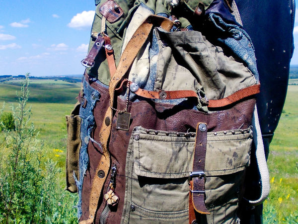 А что, если заказать  мужской рюкзак из кожи и джинса?)   Ярмарка Мастеров - ручная работа, handmade
