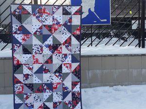 Хоккей-это сила! Лоскутное одеяло для настоящих мужчин | Ярмарка Мастеров - ручная работа, handmade