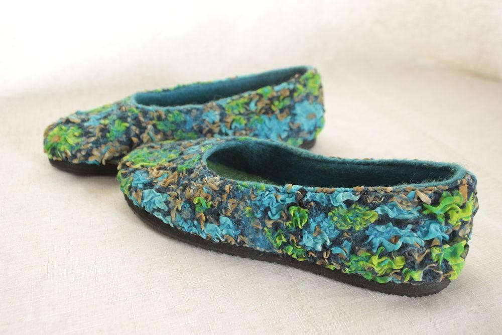 демисезонная обувь, туфли, валяные мокасины