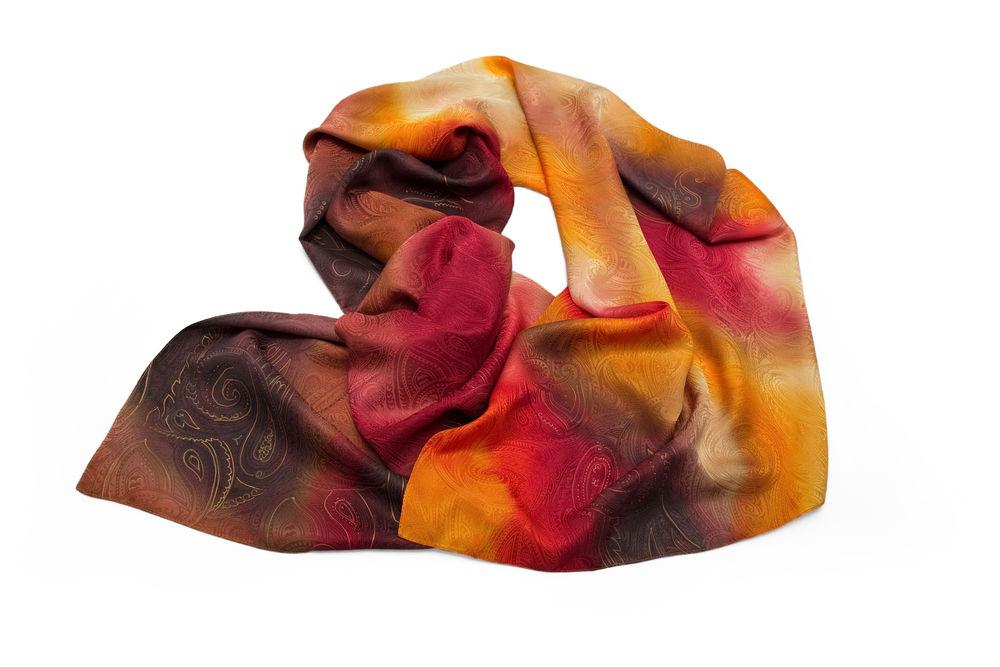 палантин, шарф, ручное крашение