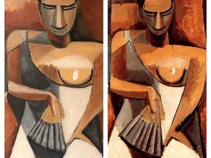 Видео мастер-класс по написанию картины по фотографии. Копия картины Пабло Пикассо «Женщина с веером». Ярмарка Мастеров - ручная работа, handmade.