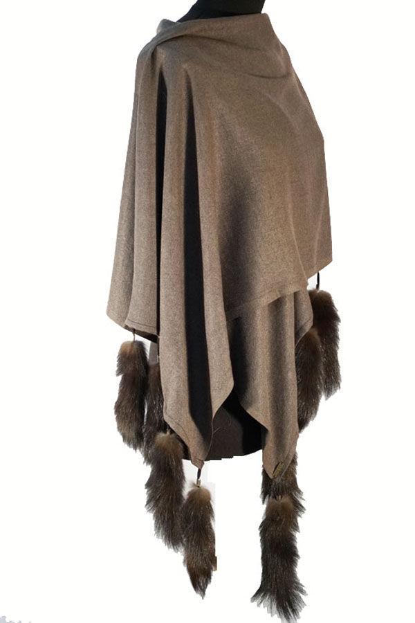 новая коллекция, осень, натуральный мех, шарф, пашмина, подарок девушке, уютный аксессуар, одежда для женщин, шаль в подарок
