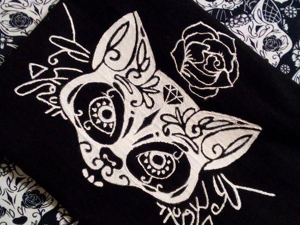 Как перенести рисунок на чёрную ткань   Ярмарка Мастеров - ручная работа, handmade