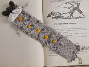 Закладка вязаная для книг  Кот Тимошка | Ярмарка Мастеров - ручная работа, handmade